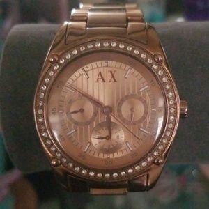 💕Armani Exchange Ladies Rose Gold Watch